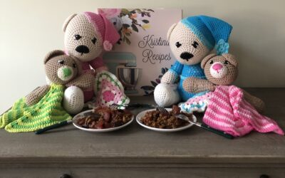 Warm Wishes for a Happy National Teddy Bear Day and an Apple Crisp Treat!